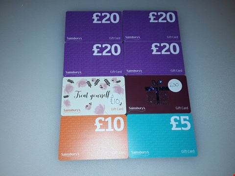 Lot 11 8 SAINSBURY'S GIFT CARDS.  TOTAL VALUE £130