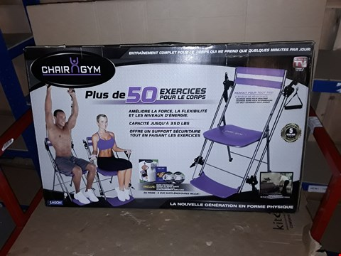 Lot 937 BOXED CHAIR GYM TOTAL BODY EXERCISE SYSTEM - PURPLE