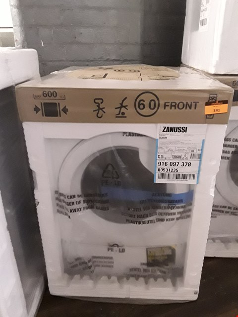 Lot 341 ZANUSSI LINDO300 ZDC8203W FRONT-LOADING ELECTRIC DRYER RRP £292