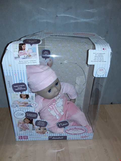 Lot 8487 BABY ANNABELLE 43CM DOLL  RRP £76.00