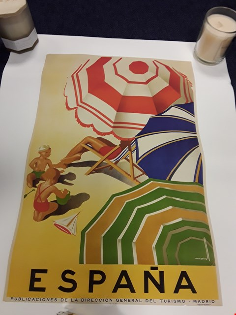 Lot 54 LOT OF APPROXIMATELY 22 ASSORTED TRAVEL PRINTS AND POSTERS INCLUDING ESPANA, NORTH WALES ETC