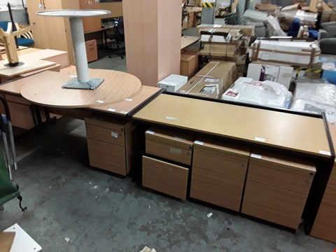 Lot 775 LOT OF 7 ASSORTED OFFICE FURNITURE ITEMS INCLUDES 4 CABINETS AND 3 DESKS
