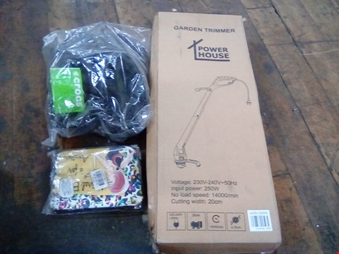 Lot 1099 12 ASSORTED ITEMS INCLUDING CROCS, CLEANING CADDY, PASSPORT HOLDER, GARDEN TRIMMER