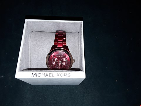 Lot 1023 GRADE 1 MICHAEL KORS  RUNWAY RED CHRONOGRAPH BRACELET LADIES WATCH RRP £304