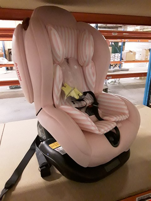 Lot 3 MY BABIIE PINK STRIPES GROUP 0-1-2 CAR SEAT RRP £185.00
