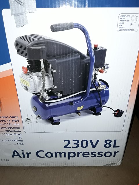 Lot 670 DRAPER TOOLS 230V 8L AIR COMPRESSOR