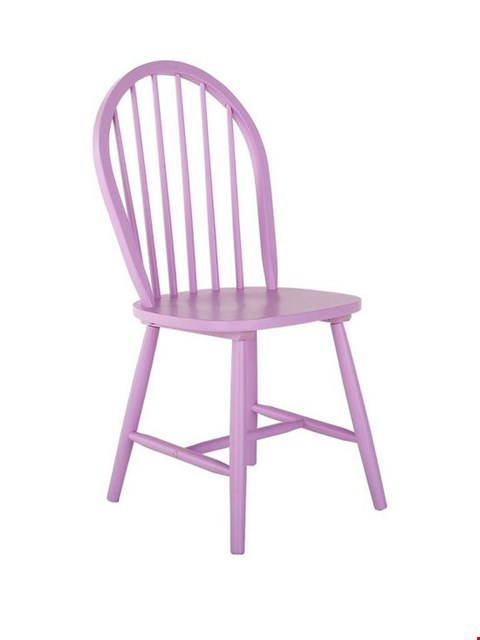 Lot 3007 BRAND NEW BOXED PINK DAISY DINING CHAIR (1 BOX) RRP £49.00