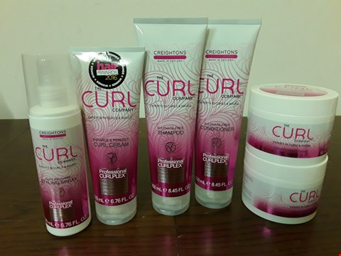 Lot 8003 LOT OF 5 CREIGHTON THE CURL COMPANY BEAUTY PRODUCTS INCLUDES SHAMPOO, CURL CREAM AND STYLING SPRAY