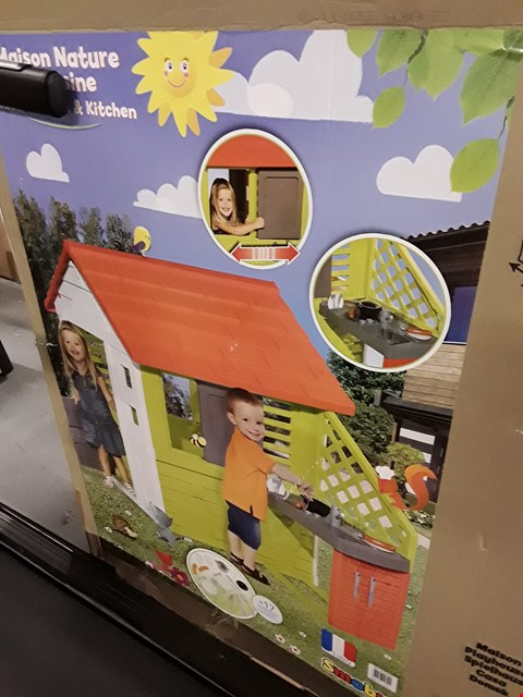 Lot 54 SMOBY NATURE PLAYHOUSE WITH KITCHEN (1 BOX) RRP £246