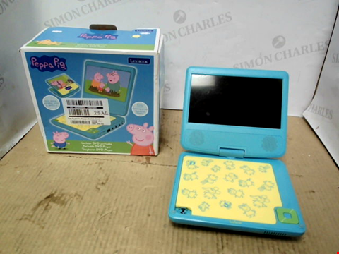 Lot 10660 PEPPA PIG PORTABLE DVD PLAYER RRP £99.99
