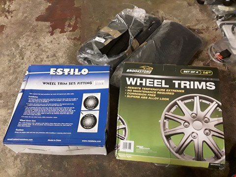 Lot 3038 TWO SETS CAR MATS & 2 SETS WHEEL TRIMS