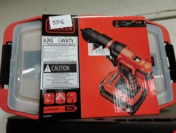 Lot 5317 BRAND NEW BLACK & DECKER 18V 2 GEAR HAMMER DRILL WITH ADDITIONAL BATTERY AND 160 ACCESSORIES