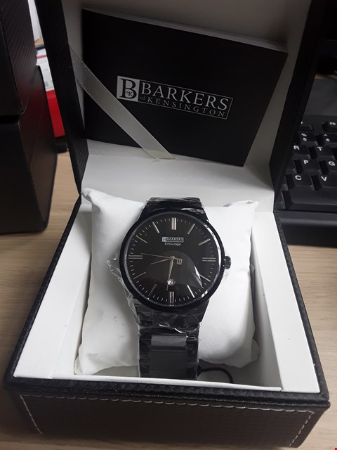 Lot 30 BRAND NEW DESIGNER BARKERS OF KENSINGTON ENTOURAGE STEEL GENTS WRISTWATCH