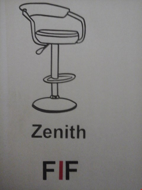 Lot 6033 FURNITURE IN FASHION 2 ZENITH GAS BAR STOOLS IN BLACK ( 1 BOX )