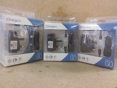 Lot 463 A BOX OF APPROXIMATELY 9 BRAND NEW CHARGERS ON THE MOVE.