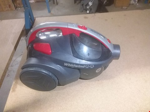 Lot 128 HOOVER WHIRLWIND PETS BAGLESS CYLINDER VACUUM CLEANER, SE71WR02, LIGHTWEIGHT, COMPACT - GREY/RED
