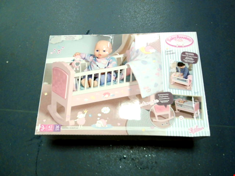 Lot 566 BABY ANNABELL SWEET DREAMS BED RRP £55.99