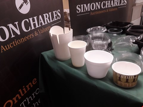 Lot 120 THREE CASES 2 X 1000 14OZ WHITE CUPS, 1 X 500 VENTED LIDS,  RRP £130.00