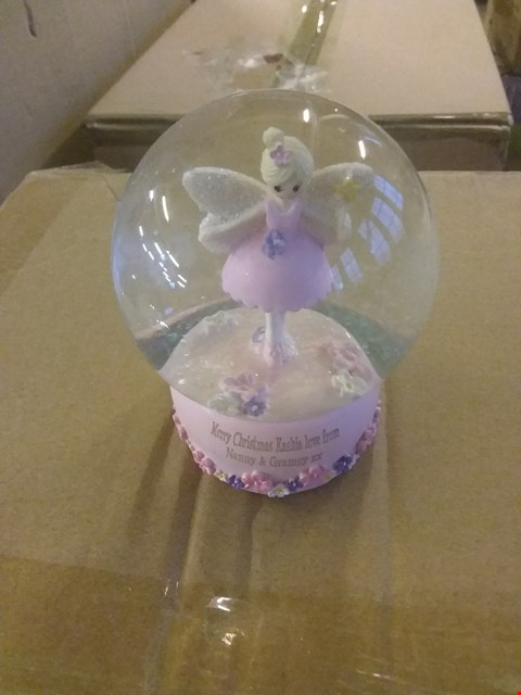 Lot 10375 LOT OF APPROXIMATELY 4 ITEMS TO INCLUDE A PERSONALISED FAIRY SNOW GLOBE, A TEKSTA NEW BORN PINK PUPPY, A PAW PATROL SKYE BUBBLE MACHINE ETC RRP £53