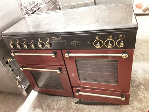 Lot 2015 LEISURE RANGEMASTER 110 CM RANGE COOKER IN CRANBERRY AND CHROME