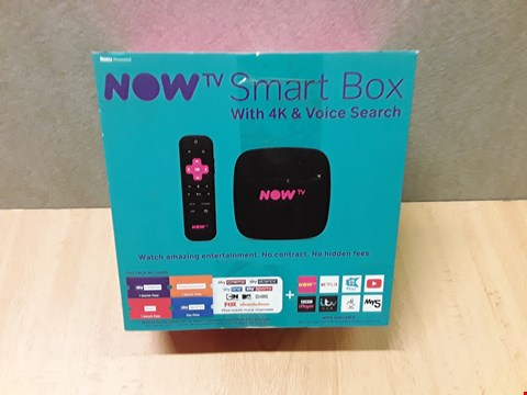 Lot 9294 BOXED NOW T.V. SMART BOX WITH 4K & VOICE SEARCH