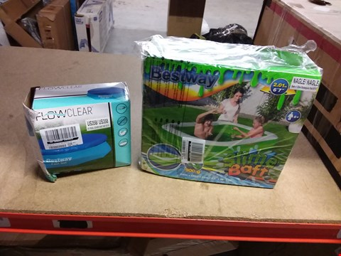 "Lot 7208 LOT OF 2 BESTWAY ITEMS INCLUDING A 6' 7"" SLIME BAFF AND A 10FT POOL COVER RRP £71.00"