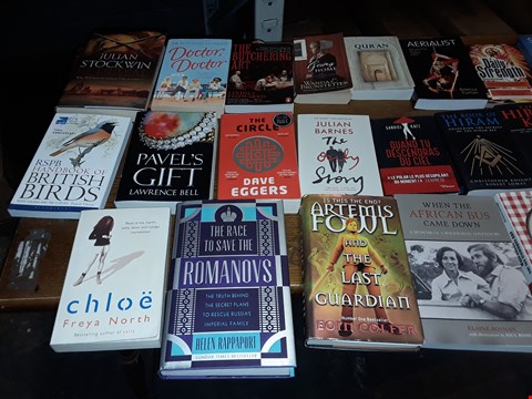 Lot 188 LOT OF APPROXIMATELY 23 ASSORTED BOOKS TO INCLUDE JULIAN BARNES THE ONLY STORY, JIM AND THE UNIVERSE AND STEPHEN FRY MYTHOS ECT