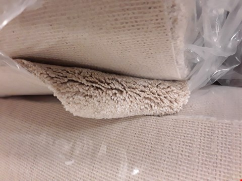 Lot 5013 ROLL OF FIRST IMPRESSIONS CLEAN CUT CREAM CARPET APPROXIMATELY 5.3M X 4M
