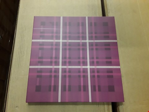 Lot 5535 BOX OF 8 ASSORTED STRATFORD PLUM CANVASSES APPROXIMATELY 35CM X 35CM