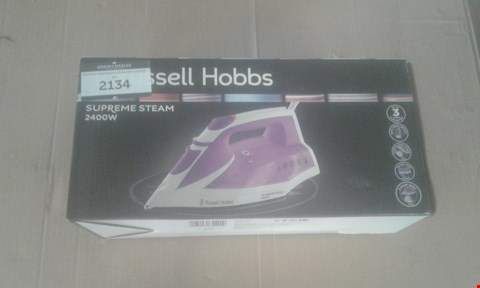 Lot 2134 RUSSELL HOBBS SUPREME STEAM 2400W IRON
