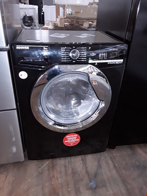 Lot 11029 HOOVER DXOA49C3B A+++ 9KG 1400 SPIN WASHING MACHINE IN BLACK