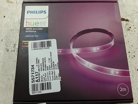 Lot 3060 PHILIPS HUE WHITE AND COLOUR AMBIENCE LIGHTSTRIP PLUS