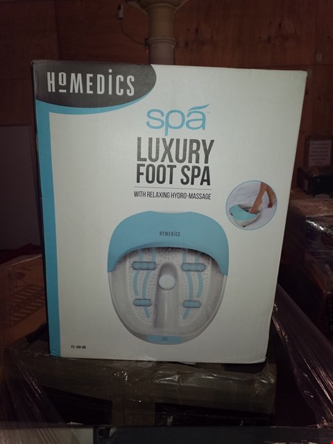 Lot 478 GRADE 1 HOMEDICS LUXURY FOOT SPA RRP £65.00