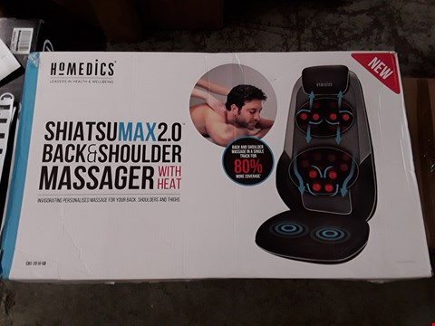Lot 2269 HOMEDICS SHIATSU MAX 2.0 BACK AND SHOULDER MASSAGER RRP £440