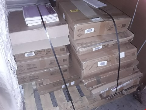 Lot 1035 PALLET OF APPROXIMATELY 27 FLAT PACK KITCHEN UNITS & FITTINGS, INCLUDING, GLASS SHELVES, DRAWE BOX, SOFT CLOSE DRAWERS, STANDARD DRAWERS RRP £1332.00
