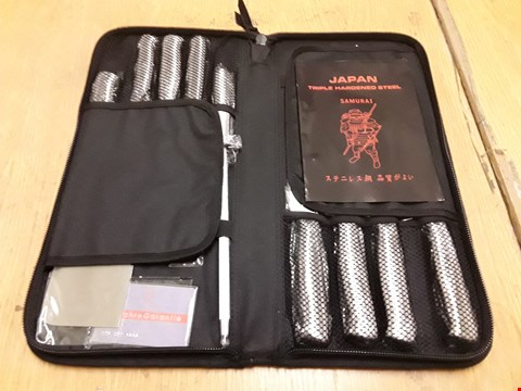Lot 210 SAMURAI BRAND TRIPLE HARDENED STEEL KITCHEN KNIFE SET