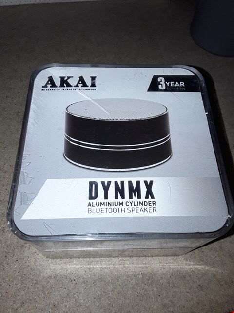 Lot 3507 LOT OF 8 AKAI DYNMX ALUMINIUM CYLINDER BLUETOOTH SPEAKERS
