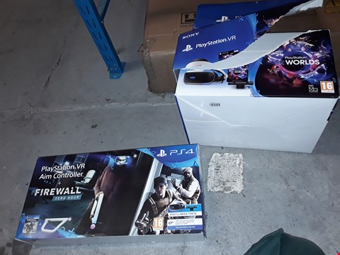 Lot 84 PLAYSTATION VR STARTER PACK WITH AIM CONTROLLER AND FIREWALL