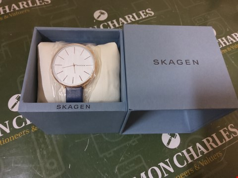 Lot 8 BOXED SKAGEN BLUE STRAP WRIST WATCH