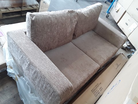 Lot 2179 PALE GOLD FABRIC 2 SEATER SOFA