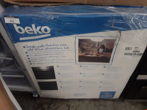 Lot 431 BEKO QSE222X INETGRATED ELECTRIC OVEN AND HOB