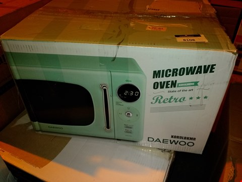 Lot 8108 DAEWOO KOR9LBKMR TOUCH CONTROL MICROWAVE, 800 W, 20 L, GREEN