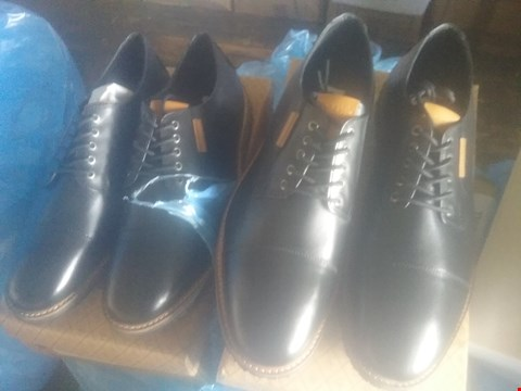 Lot 7059 BAG OF APPROXIMATELY 10 ASSORTED ITEMS OF FOOTWEAR TO INCLUDE PENGUIN YOKO DERBY BLACK SHOES
