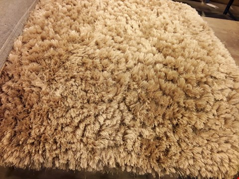 Lot 3088 DESIGNER JEWEL OCHRE SHIMMER SHAGGY RUG 120 × 170