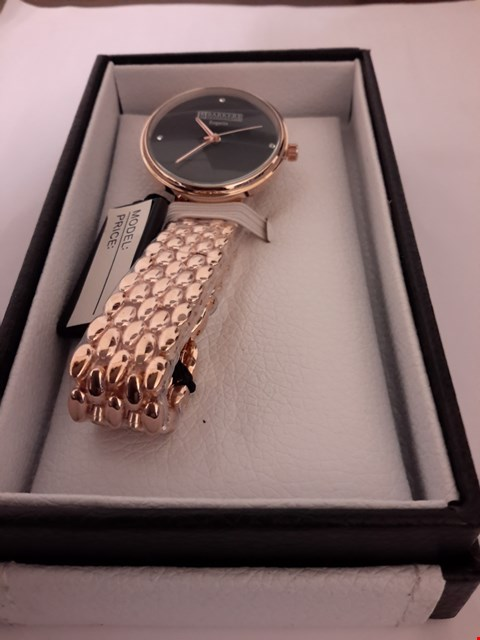 Lot 1077 DESIGNER BARKERS OF KENSINGTON REGATTA BLACK LADIES WRIST WATCH RRP £315