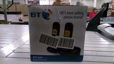 Lot 1412 BOXED BT 1100 TWIN CORDLESS PHONE  RRP £45.00