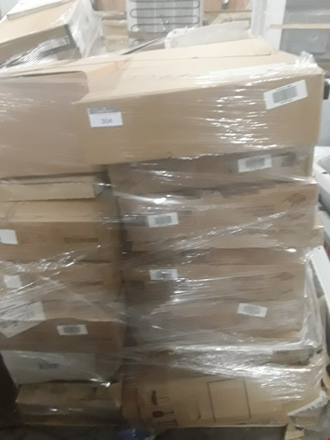 Lot 99 A LARGE PALLET OF APPROXIMATELY 25 ASSORTED KITCHEN UNITS INCLUDING RECYCLE BIN, CHROME EFFECT SINK FIXING KIT, SOFT CLOSE DRAWERRS AND MORE RRP £1910