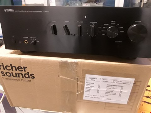 Lot 104 YAMAHA AS501 BLACK STEREO AMPLIFIER RRP £199.00