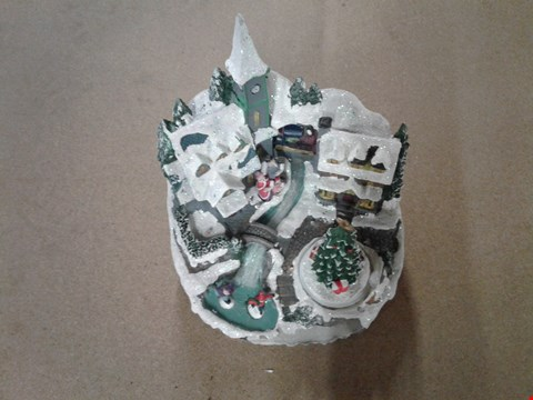 Lot 2037 MUSICAL POLYRESIN CHRISTMAS VILLAGE SCENE RRP £50