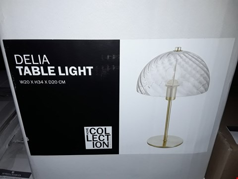 Lot 390 BOXED HOME COLLECTION DELIA TABLE LIGHT